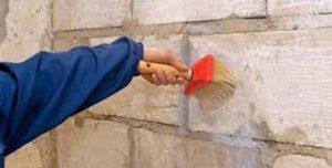 первое грунтование стены