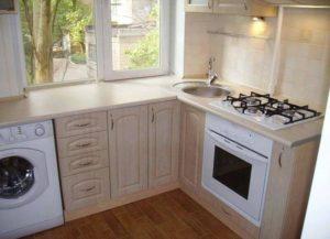 кухня подоконник
