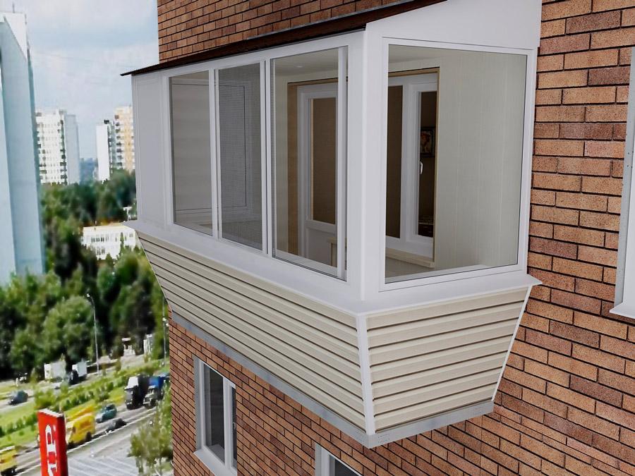 Отделка балконов сайдингом и профилированным металлическим л.